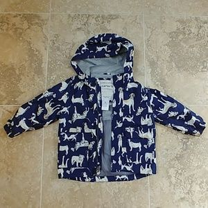 Carter's raincoat blue with dogs size 4T
